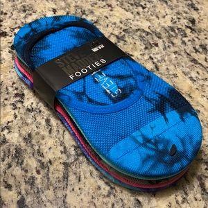 Steve Madden 5 Pack Tie-Dye Footie Socks Size 9-11